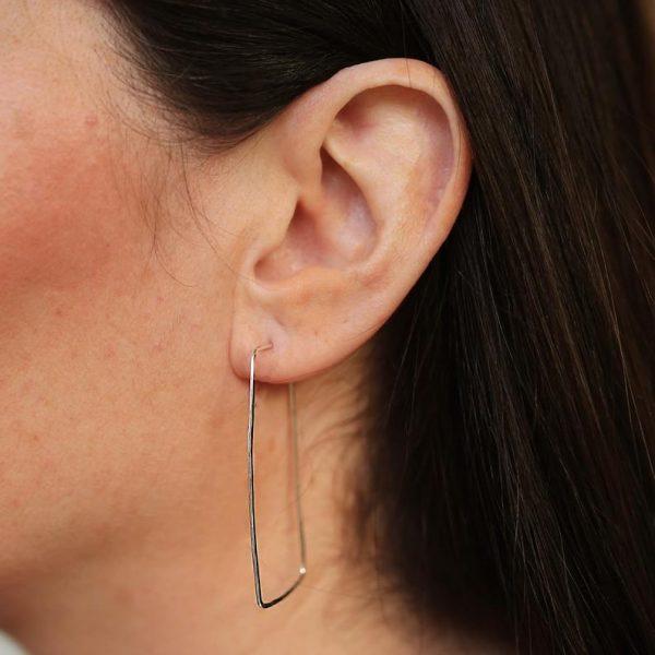 Maxi Rectangular Hoop Earrings