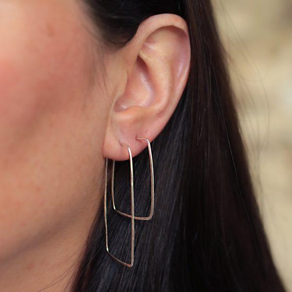 Maxi and Midi Rectangular Hoop Earrings