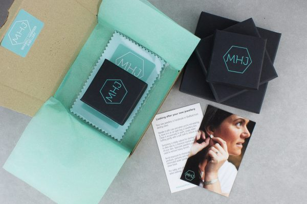 Branded Maxwell Harrison Jewellery gift box packaging