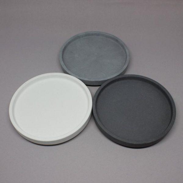 Round Concrete Trinket Dishes