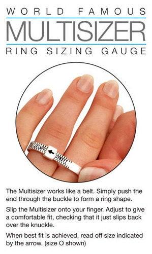 UK Ring Size Gauge