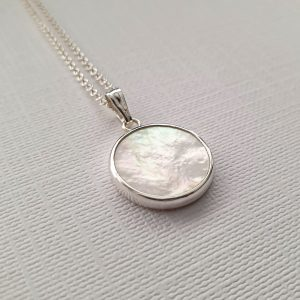 Mother of Pearl Coin Pendant